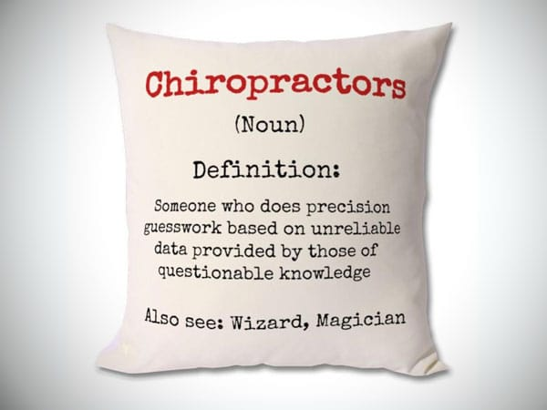 Chiropractor Definition Cushion