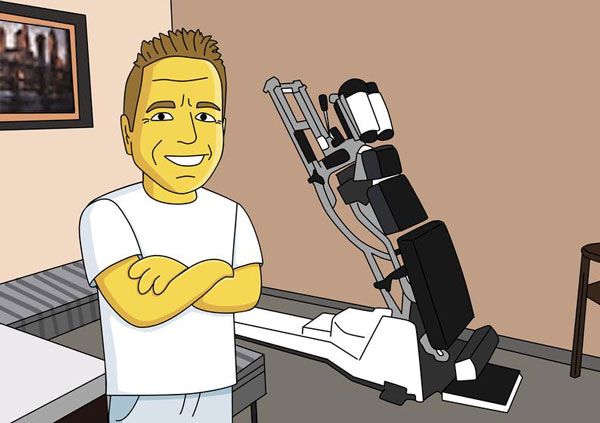 Chiropractor Gift – Custom Portrait as Cartoon Character