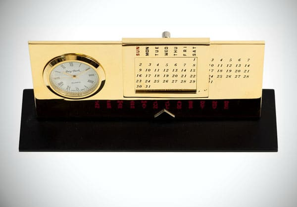 Chiropractor Perpetual Calendar and Tabletop Clock