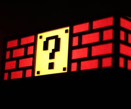 Colorful Mario Question Mark Block Lamp