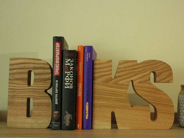 Contemporary Wooden Bookends