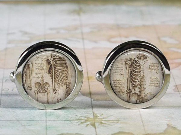 Davinci Anatomical Cufflinks