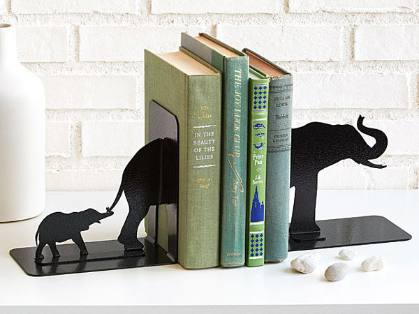 Elephant Family Bookends - cool bookends