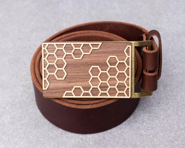 Hexagon Honey Comb Belt Buckle