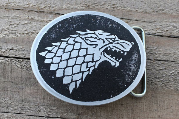 House of Stark Belt Buckle