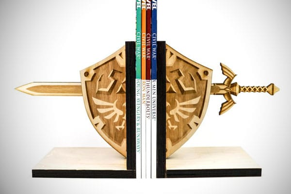 Hylian Shield & Master Sword Book Ends