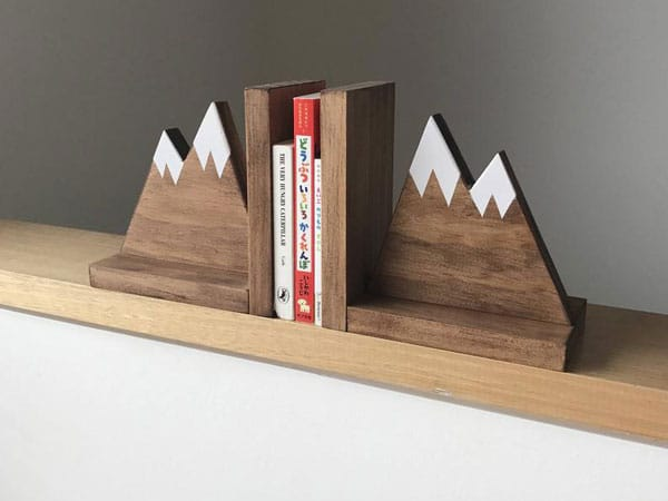 Mountain Peak Book Ends
