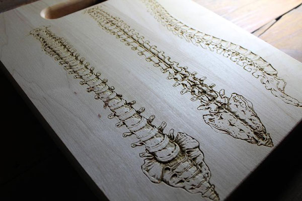 Personalized Human Spine Cutting Board