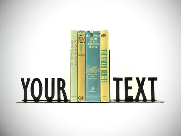 Personalized Text Bookends