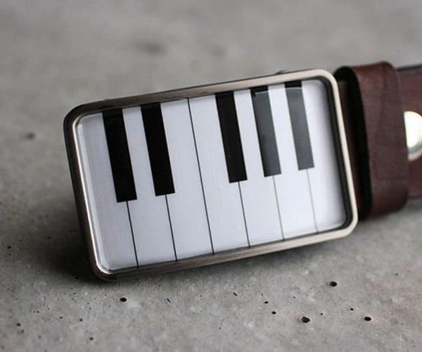 Piano Keyboard Belt Buckle