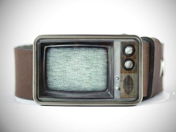 Retro TV Belt Buckle