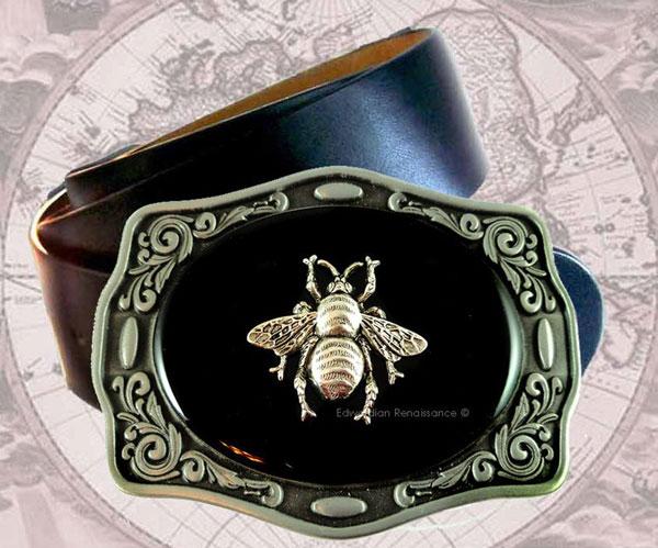 Silver Bee Belt Buckle