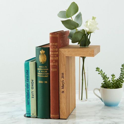 Solid Oak Personalised Bookends
