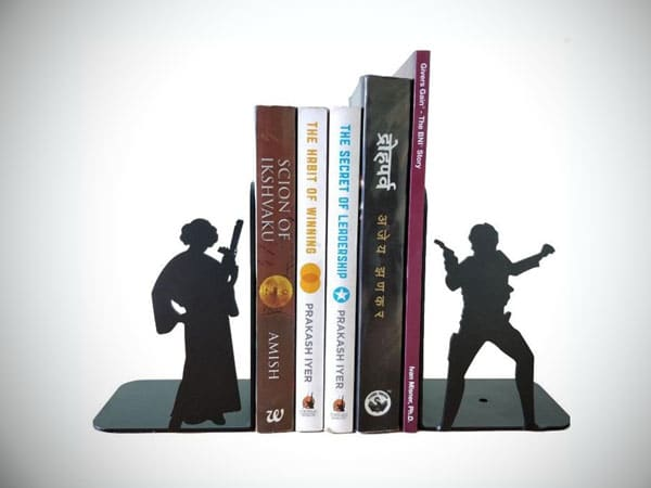 Star Wars Princess Leia and Han Solo Metal Bookends