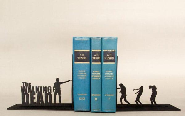 The Walking Dead Handmade Bookends