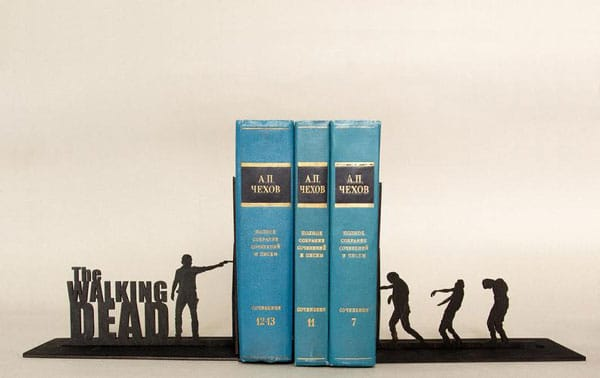 The Walking Dead Handmade Bookends