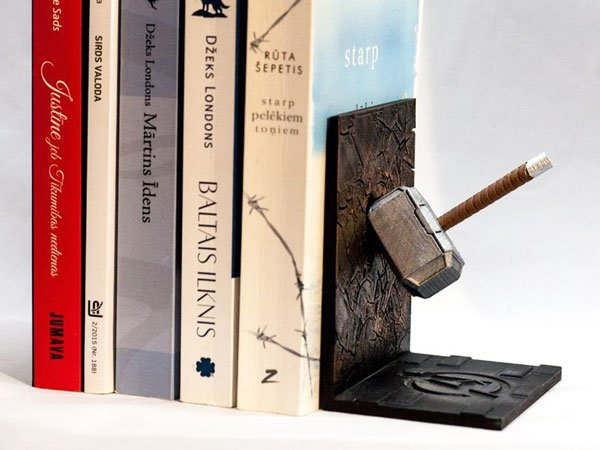 Thors Hammer Book Ends