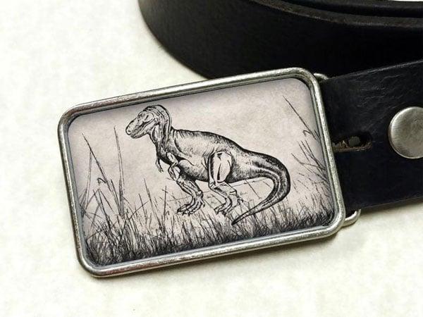 Tyrannosaurus Dinosaur T Rex Custom Belt Buckle