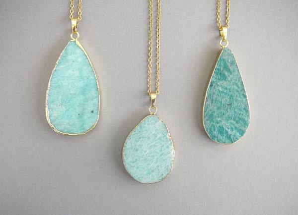 Amazonite Necklace Pendant