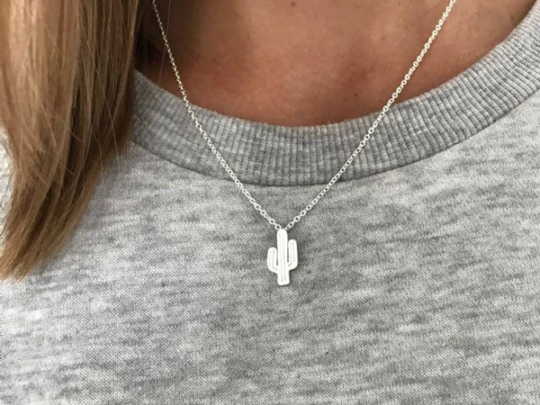 Minimalist Cactus Necklace