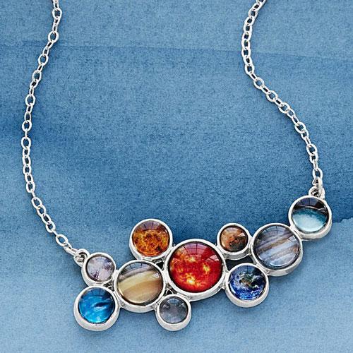 Solar System Bubble Bib Necklace