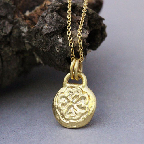 This 14k Gold Boho Gold Necklace