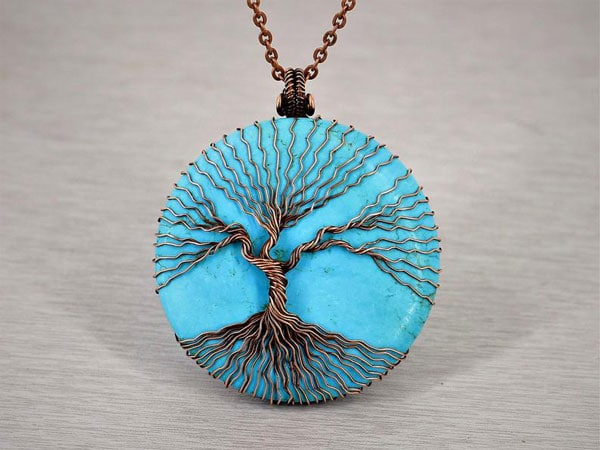Tree of Life Turquoise Necklace