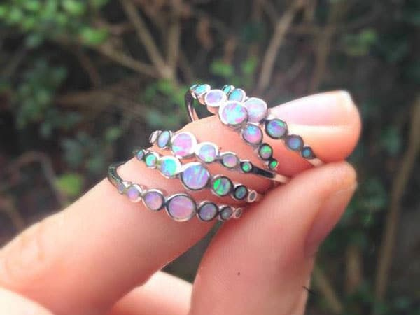 Unicorn Tears Opal Rings