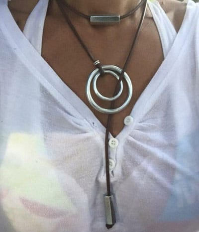 Women's Trendy and Modern Leather Necklace