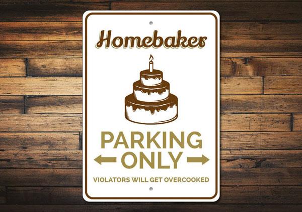 Baker Parking Sign
