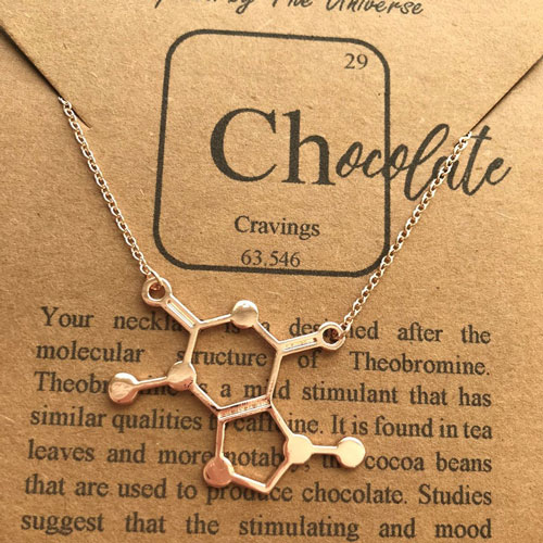 Chocolate Molecule Rose Gold Necklace
