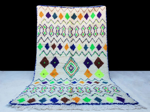 Colorful Moroccan Azilal Berber Rug