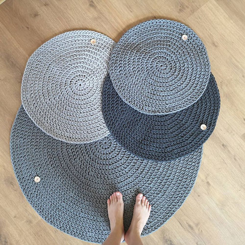 Crochet Teepee Rugs