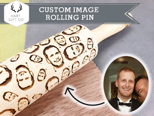 Custom Embossed Rolling Pin