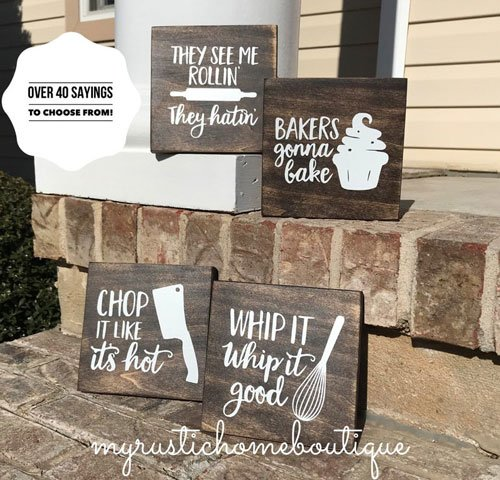 Funny Kitchen Baker Decor Signs