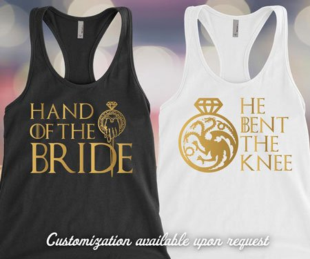 Game of Thrones Bachelorette Party Tank Tops