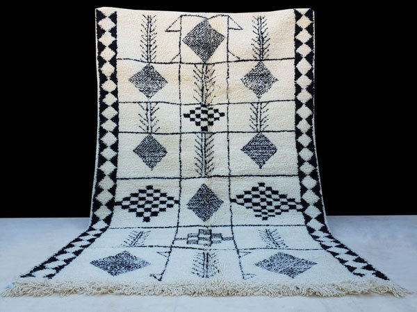 Handmade 100% Natural Wool Beni Ourain Rug