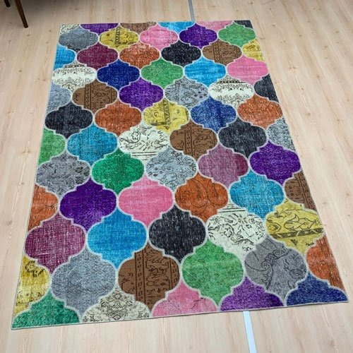 Handmade Colored Patchwork Rug