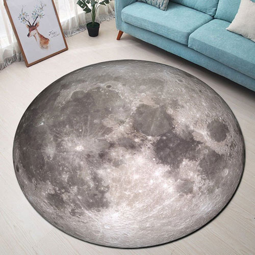 Moon Round Memory Foam Carpet
