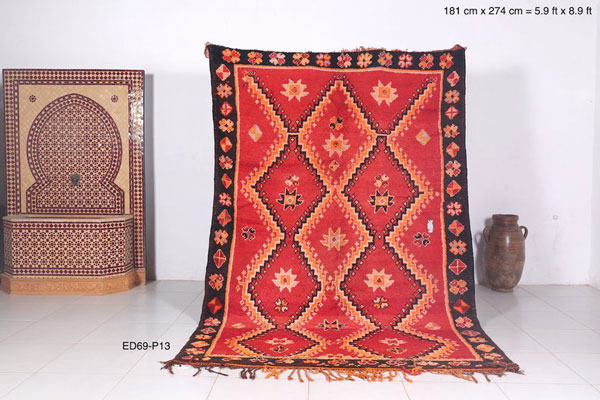 Moroccan 5.9ft x 8.9ft rug