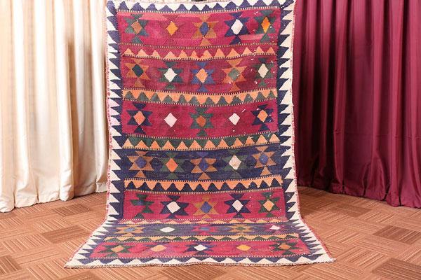 Multi Color Oriental Geometric Persian Bedroom Rug