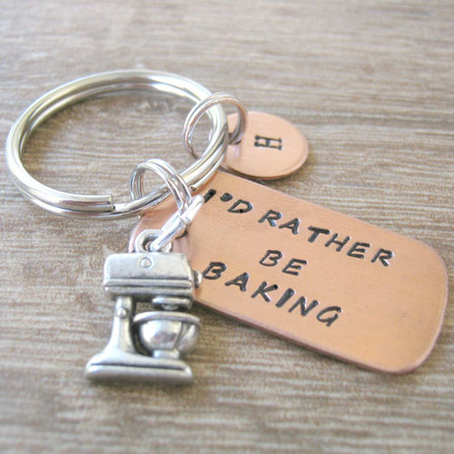 Personalized Baker's Keychain