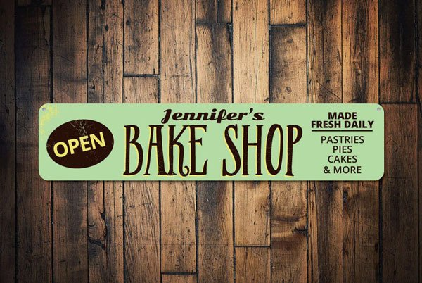 Personalized Bakery Store Name Sign
