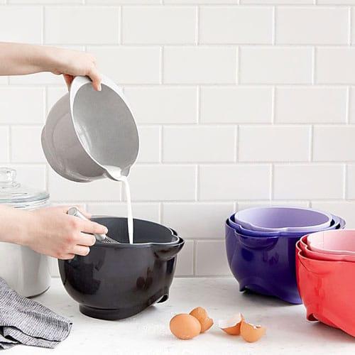 Plant-Based Plastic Kitchen Bowls