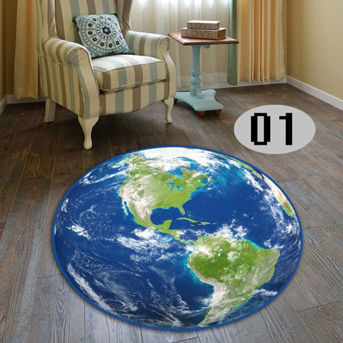 Solar System Planet Cool Round Floor Rug