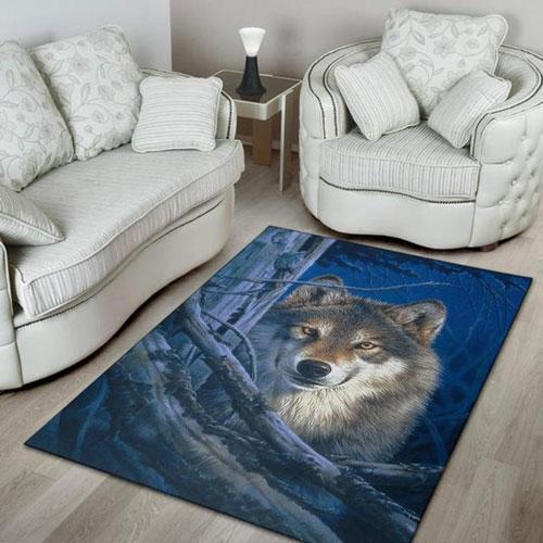Wolf Area Rug