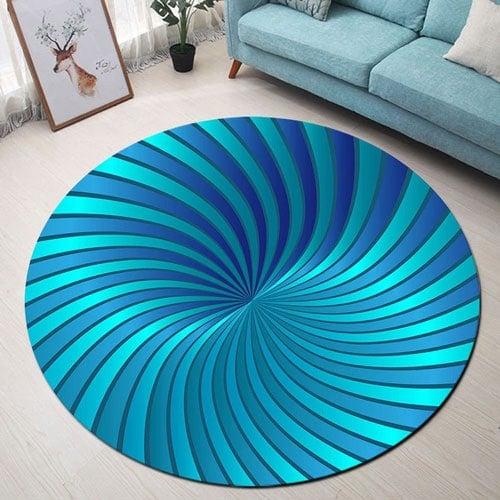 Yoga Round Floor Bedroom Area Rug