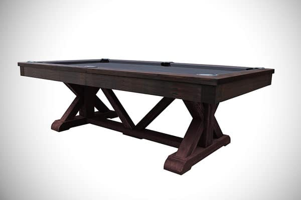 Brazos River Weathered 8' Slate Pool Table