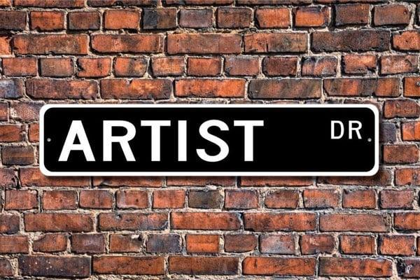 Custom Artist Street Sign