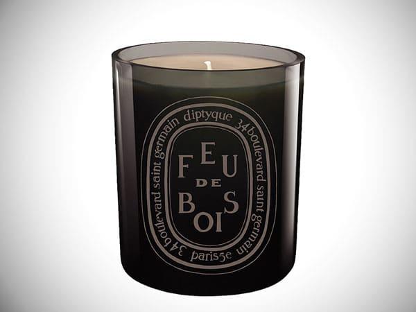 Feu de Bois/Wood Fire Grey Scented Candl